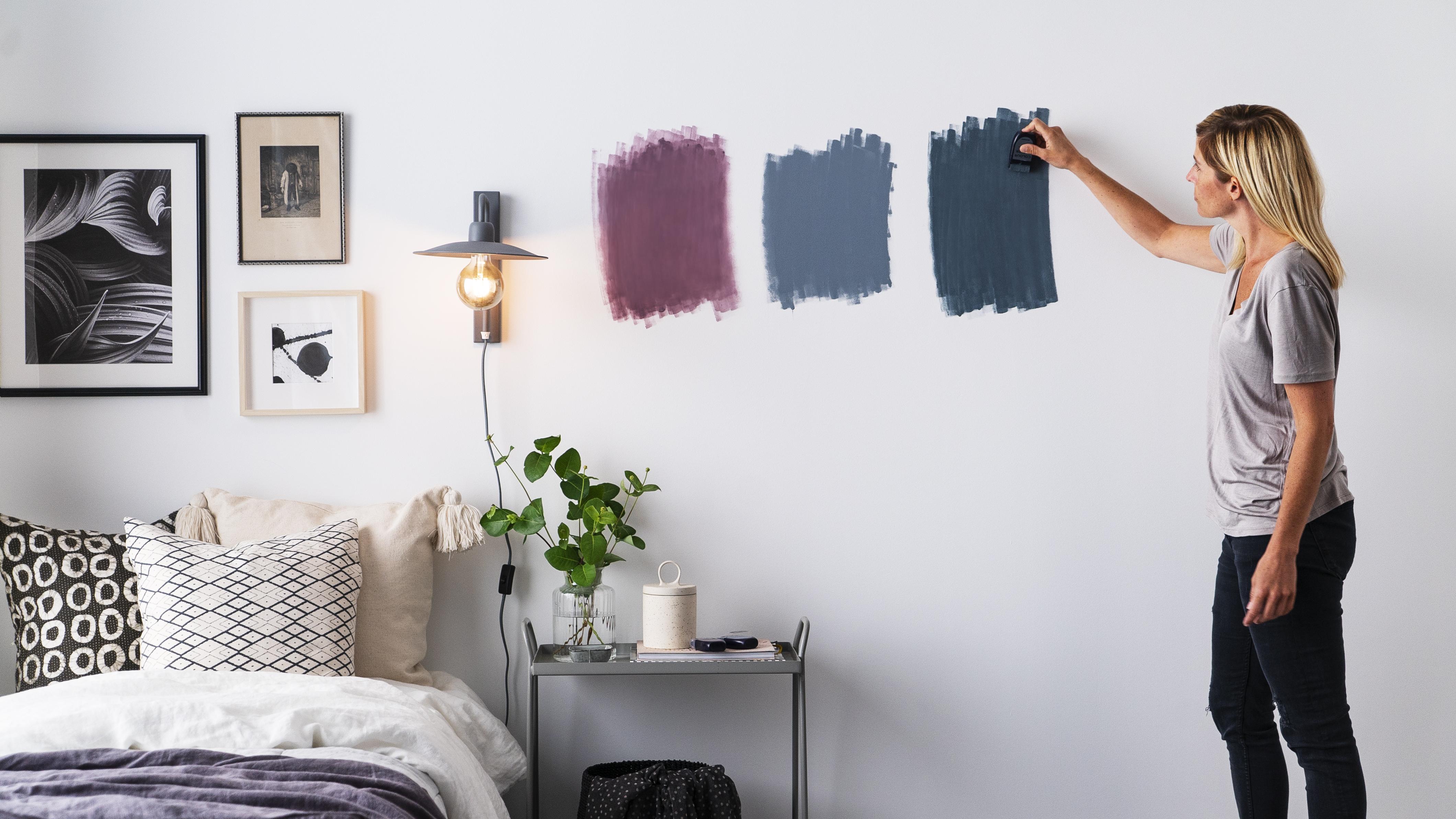 til dit rum med colour tester!